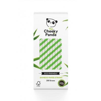 Słomki bambusowe jednorazowe zielone śr 6mm dł 200mm 250szt