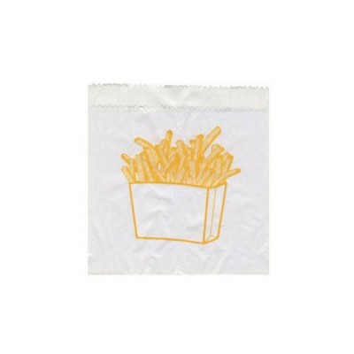 Torebka papierowa na frytki 10+5 cm x 11 cm 300 szt.