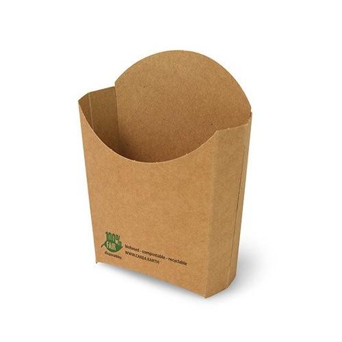 Pudełko papierowe na frytki 13,9 x 13,4 x 4,2 cm 80 szt.