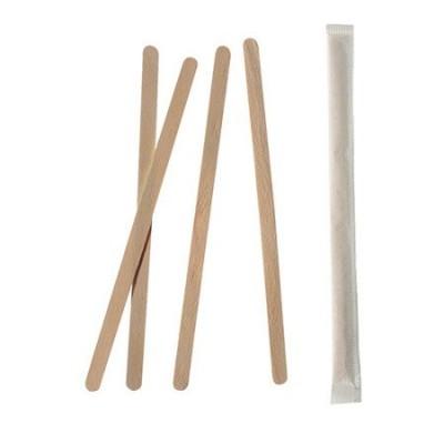 Mieszadełko drewniane 17,8 cm pojedynczo pakowane 1000 szt.