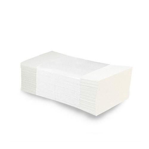 Ręczniki papierowe dwuwarstwowe ZZ białe 21 cm x 25 cm 3200 szt.