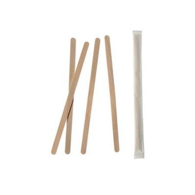 Mieszadełko drewniane 11 cm pojedynczo pakowane 1000 szt.