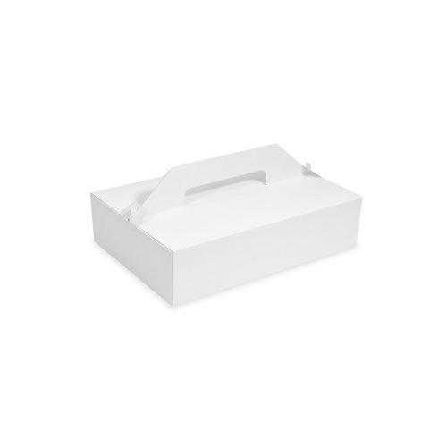 Pudełka na ciastka z uchwytem 27 x 18 x 8 cm 50 szt.