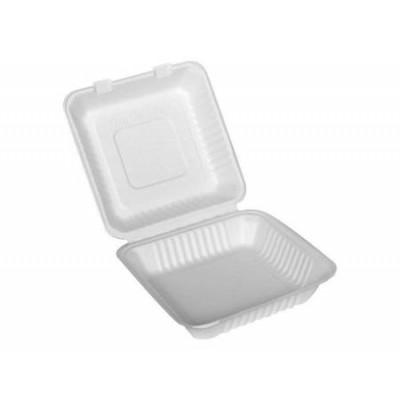 Menu box z trzciny cukrowej niedzielony 1500 ml, 23 x 23 x 8 cm 100 szt.