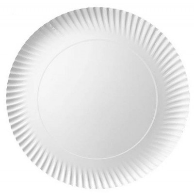 Talerz papierowy biały okrągły 28cm 100 szt