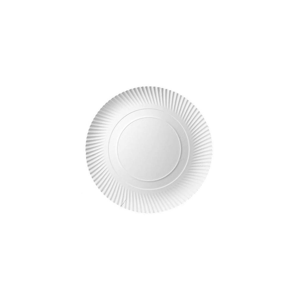 Talerz papierowy biały okrągły 32 cm 100 szt