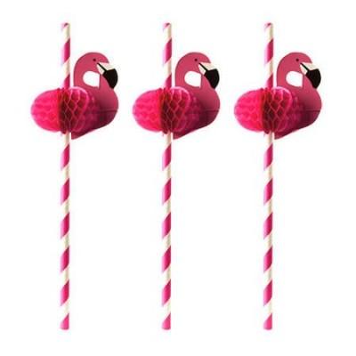 Słomki papierowe Flamingo śr 6 dł 200mm 50szt