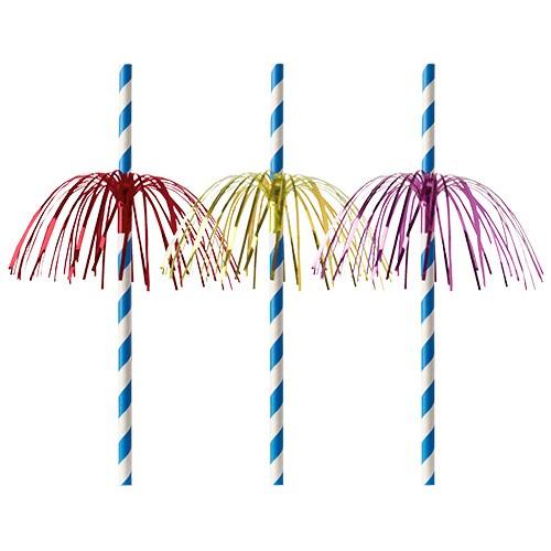 Słomki papierowe Fireworks śr 6mm dł 200mm 50szt