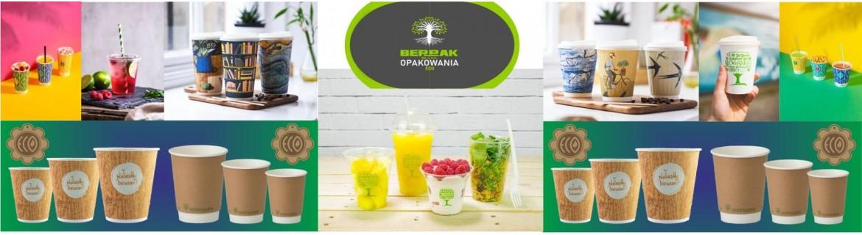 Ekologiczne kubki jednorazowe, biodegradowalne - Berpak